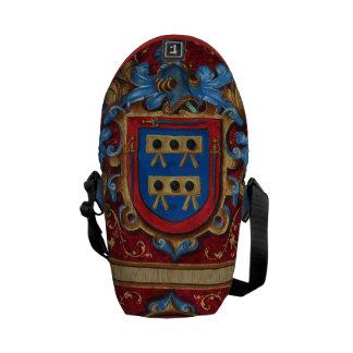Escudo de armas medieval bolsas messenger