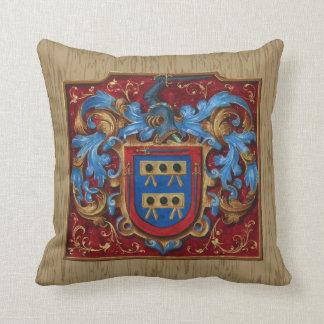 Escudo de armas medieval cojín