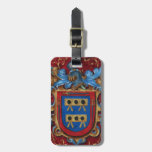Escudo de armas medieval etiquetas de maletas