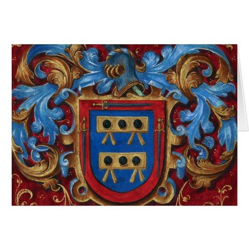 Escudo de armas medieval felicitación