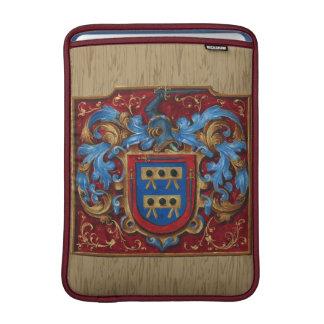 Escudo de armas medieval funda macbook air
