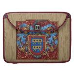Escudo de armas medieval funda macbook pro