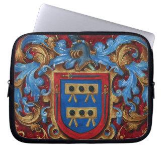 Escudo de armas medieval funda ordendadores