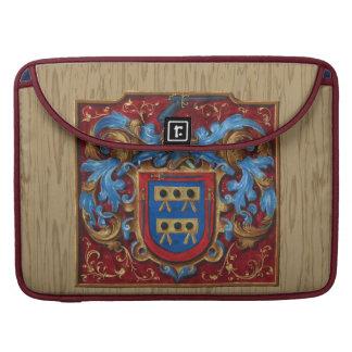 Escudo de armas medieval fundas para macbooks