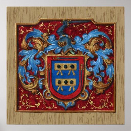 Escudo de armas medieval impresiones