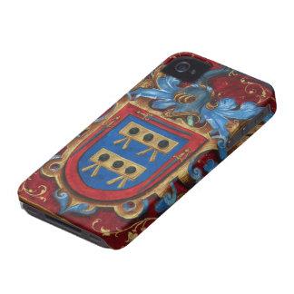 Escudo de armas medieval iPhone 4 fundas