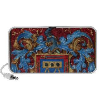 Escudo de armas medieval iPod altavoz