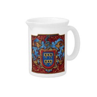 Escudo de armas medieval jarrón