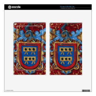 Escudo de armas medieval pegatinas skins para kindle fire