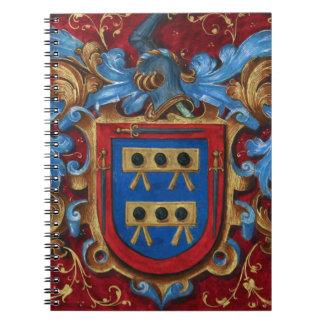 Escudo de armas medieval libretas espirales