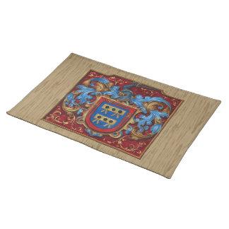 Escudo de armas medieval manteles individuales
