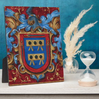 Escudo de armas medieval placa para mostrar