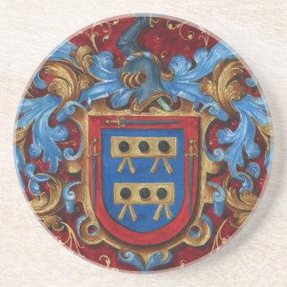 Escudo de armas medieval posavasos de arenisca