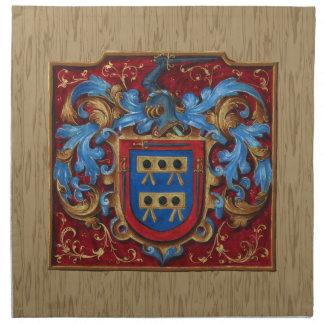 Escudo de armas medieval servilleta