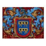 Escudo de armas medieval tarjetas postales