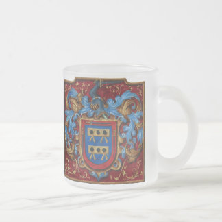 Escudo de armas medieval taza de cristal