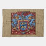 Escudo de armas medieval toalla de mano