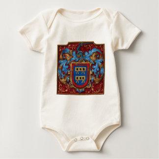 Escudo de armas medieval trajes de bebé