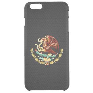 Escudo de armas mexicano funda clearly™ deflector para iPhone 6 plus de unc