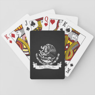 Escudo de armas mexicano cartas de póquer