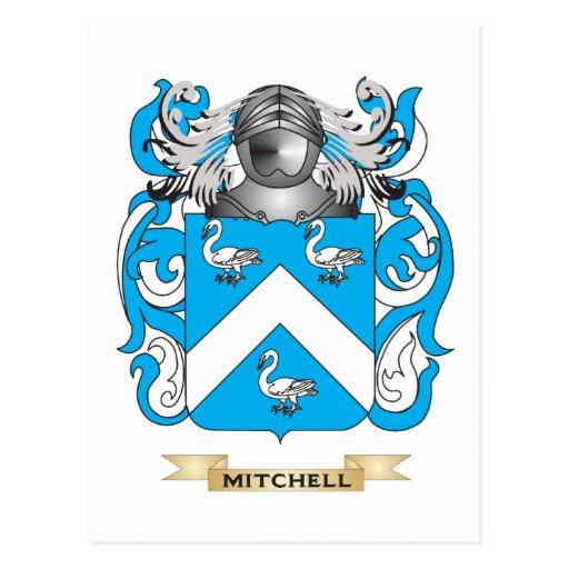 Escudo de armas Mitchell-Inglés (escudo de la Tarjeta Postal
