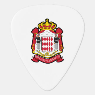 Escudo de armas Monacan Púa De Guitarra