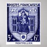 Escudo de armas, Montpellier Francia Poster