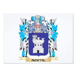 Escudo de armas mortal - escudo de la familia comunicados personalizados