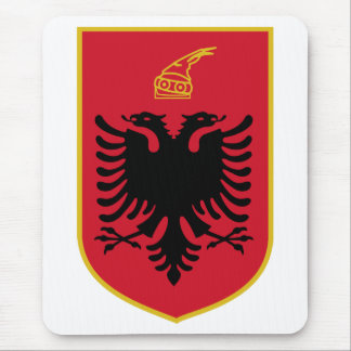 Escudo de armas Mousepad de Albania Tapetes De Raton