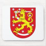 Escudo de armas Mousepad de Finlandia Tapetes De Ratones