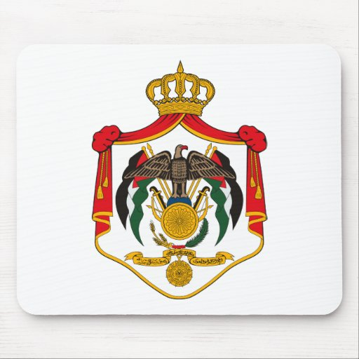 Escudo de armas Mousepad de Jordania Tapete De Ratón