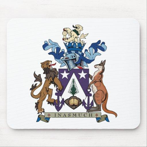 Escudo de armas Mousepad de las islas de Norfolk Alfombrilla De Ratón