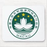 Escudo de armas Mousepad de Macao Alfombrilla De Ratones