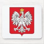 Escudo de armas Mousepad de Polonia Tapetes De Ratones