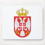 Escudo de armas Mousepad de Serbia Tapetes De Ratones