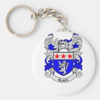 Escudo de armas NEGRO Llavero Redondo Tipo Pin