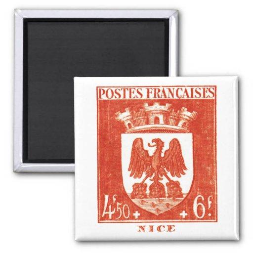 Escudo de armas, Niza Francia Iman Para Frigorífico