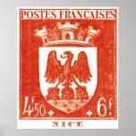 Escudo de armas, Niza Francia Impresiones