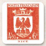 Escudo de armas, Niza Francia Posavasos De Bebida