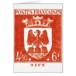 Escudo de armas, Niza Francia Tarjetas
