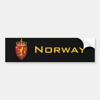 """""""Escudo de armas noruego """" Pegatina De Parachoque"""