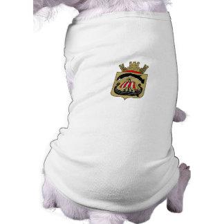 Escudo de armas noruego camiseta de perro