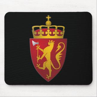 Escudo de armas noruego tapetes de ratones