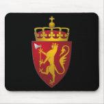 """""""Escudo de armas noruego """" Tapetes De Ratones"""