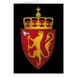 Escudo de armas noruego tarjeton