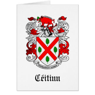 Escudo de armas Notecards de la familia de Keating Tarjeta Pequeña