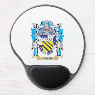 Escudo de armas pagano - escudo de la familia alfombrillas con gel