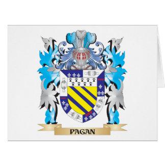 Escudo de armas pagano - escudo de la familia tarjeta de felicitación grande