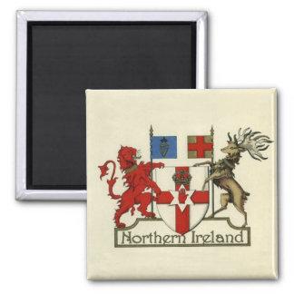 Escudo de armas para Irlanda del Norte Imán Cuadrado