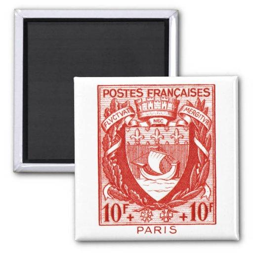 Escudo de armas París, Francia Imán Cuadrado